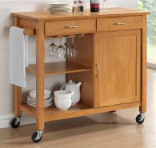 Harrogate Hardwood Oak Finish Kitchen Trolley 1/2 Price Deal